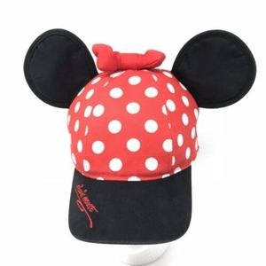 Disneyland Minnie Mouse Hat Youth Ears Bow Polka